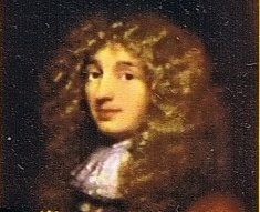 postage stamp image of Christian Huygens, developed concept of entrainment that drives ours spiritual healing