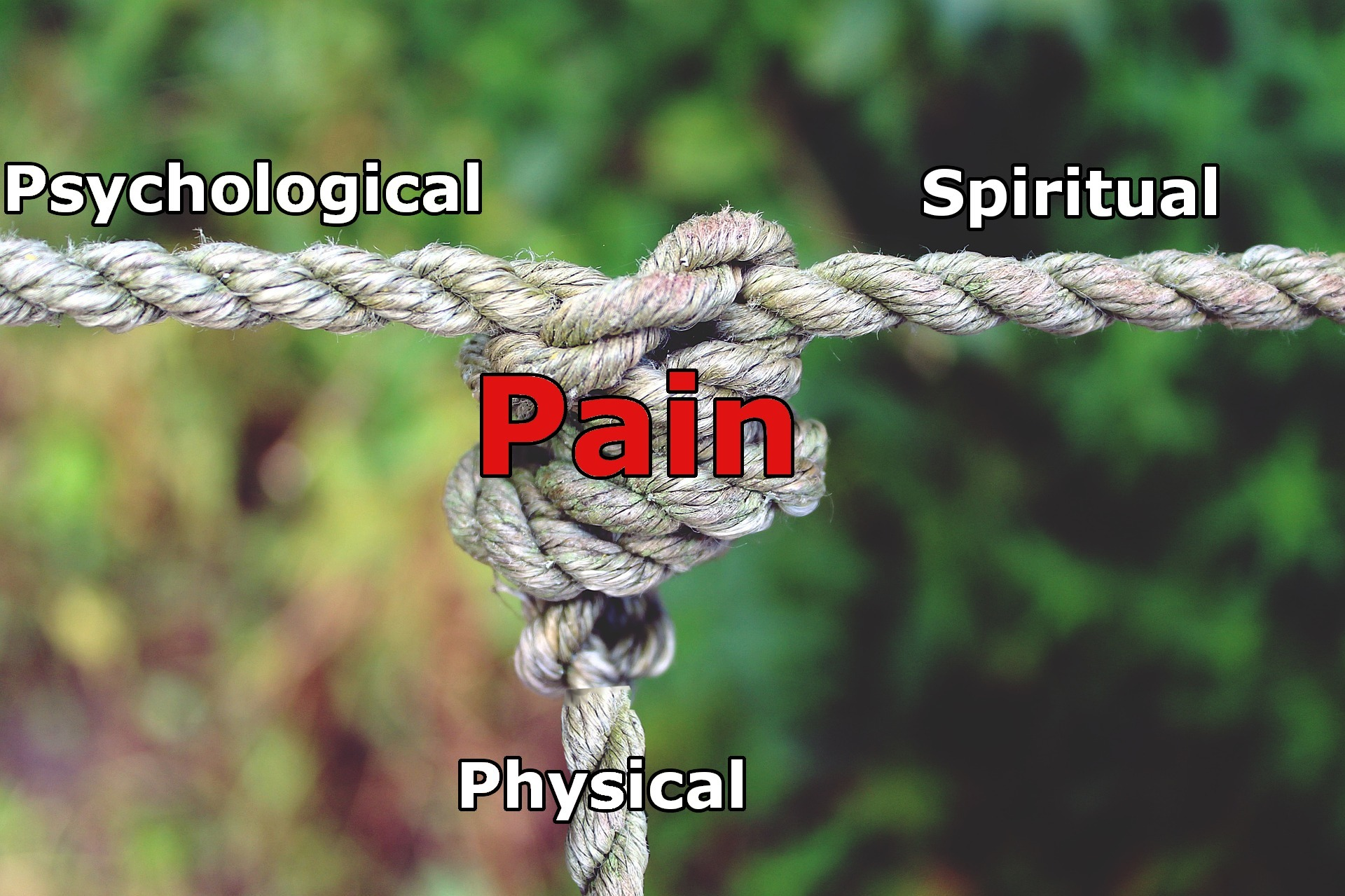 three stranded knot physical, psychological and spiritual pain