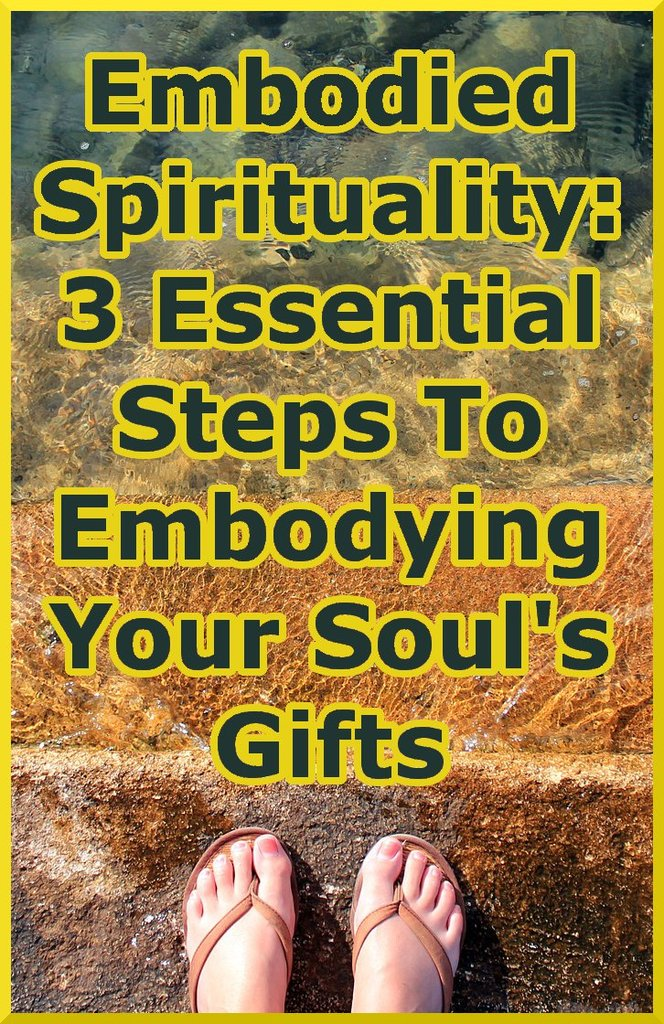 someone taking 3 steps into water representing embodied spirituality