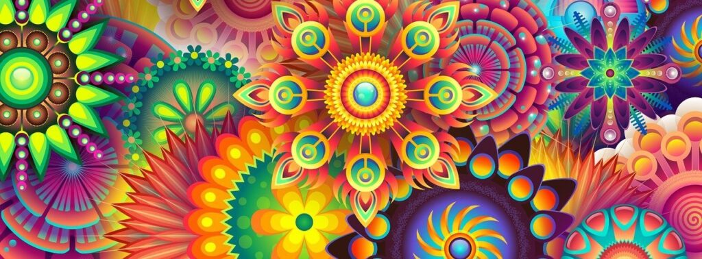 psychedelic image representing embodied spiritual growth