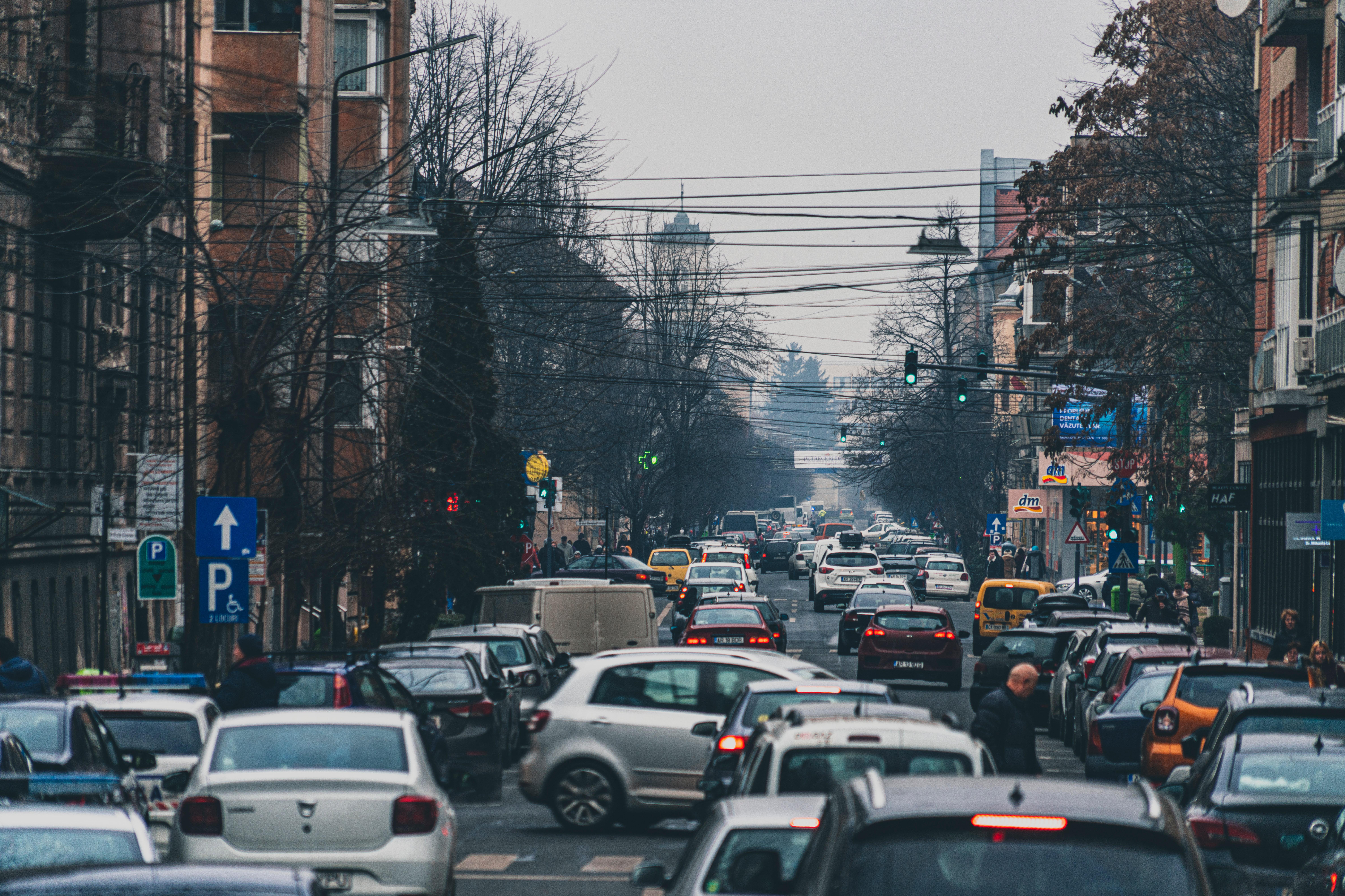 traffic jam representing blocked life force energy