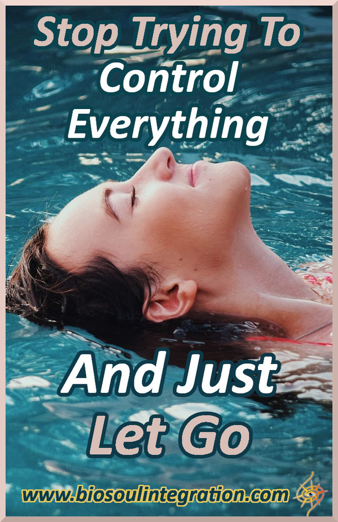 woman relaxingin pool letting go of control